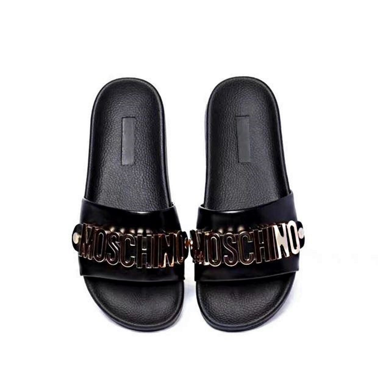 a32c23ada ... Load image into Gallery viewer, Moschino Slippers Slides 2 Color ...