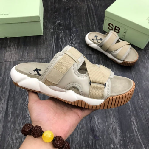 Off White Slippers Grey