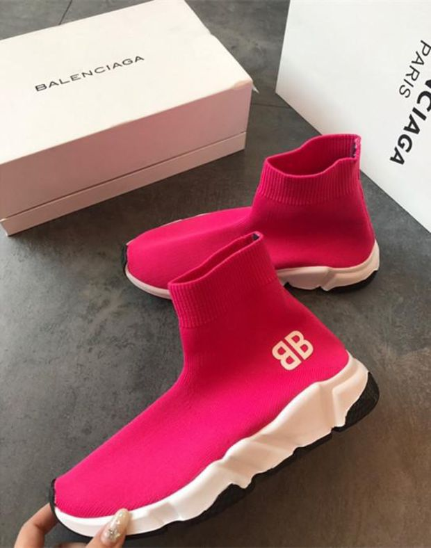 Balenciaga Speed Trainer Sneakers Pink