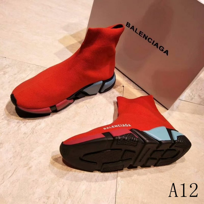 Balenciaga Speed Trainer Sneakers Red Color