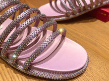 Load image into Gallery viewer, Caovilla Slippers Stones Pink