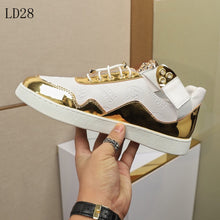 Load image into Gallery viewer, Versace Sneakers  Gold White