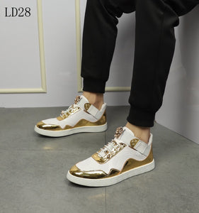 Versace Sneakers  Gold White