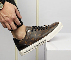 L Leather Sneakers Brown Monogram