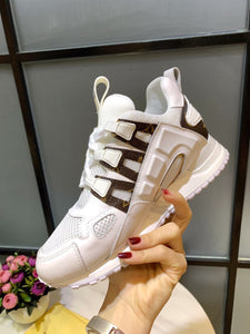 L Digital Leather Sneakers 2 Colors