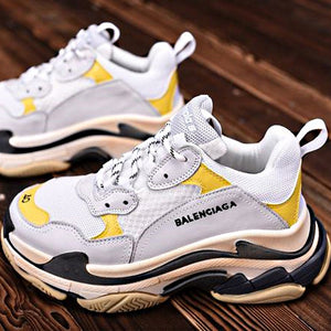 Balenci Triple S Yellow Sneakers