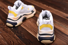 Load image into Gallery viewer, Balenci Triple S Yellow Sneakers