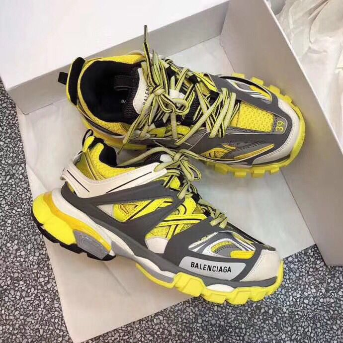 Balenciaga Track Trainers Sneakers Yellow White
