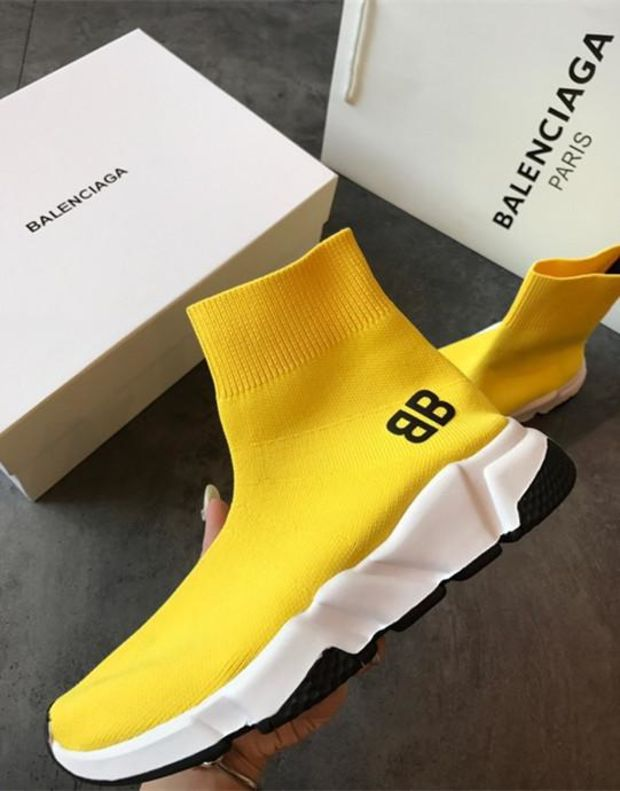 pretty nice 06965 b5bfb ... Load image into Gallery viewer, Balenciaga Speed Trainer Yellow bb ...