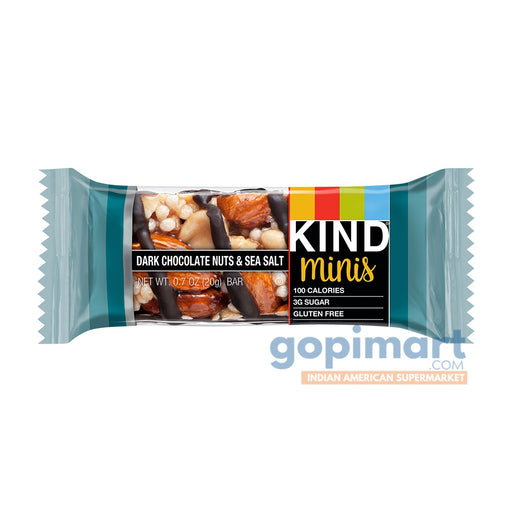 Kind Minis Dark Chocolate Nuts And Sea Salt