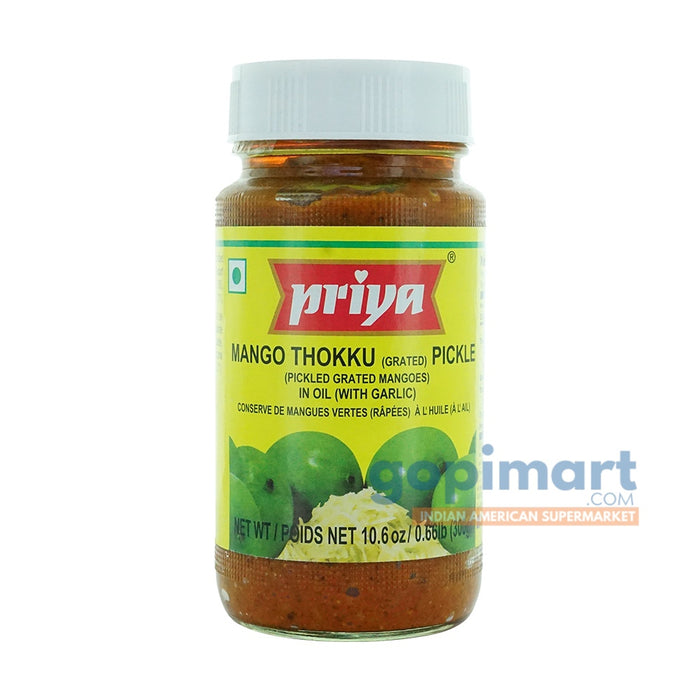 Priya Mango Thokku (Grated) Pickle (in Oil with Garlic)