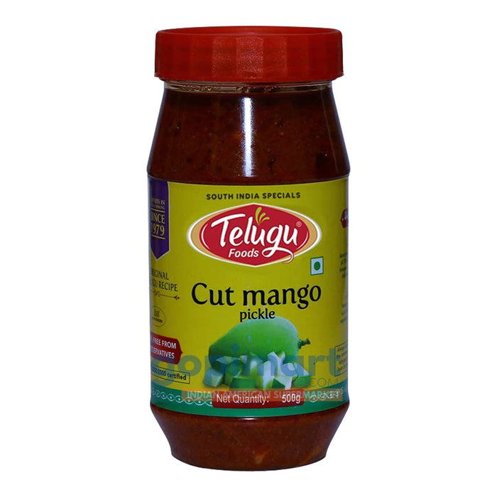Telugu Cut Mango Pickle (Without Garlic)