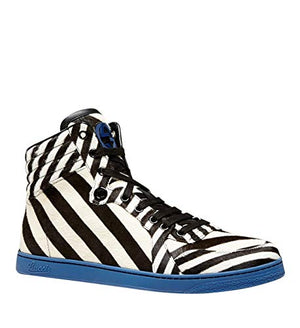 be746d4cf Gucci Multi-Color Zebra Print Calf Hair High top Sneaker 353412 (9.5 G ...