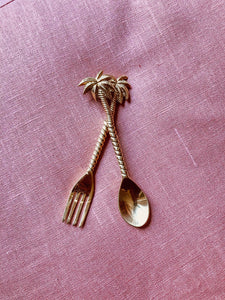 PALM TREE DESSERT FORK