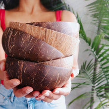 Load image into Gallery viewer, the palm lyfe l original and natural coconut bowls