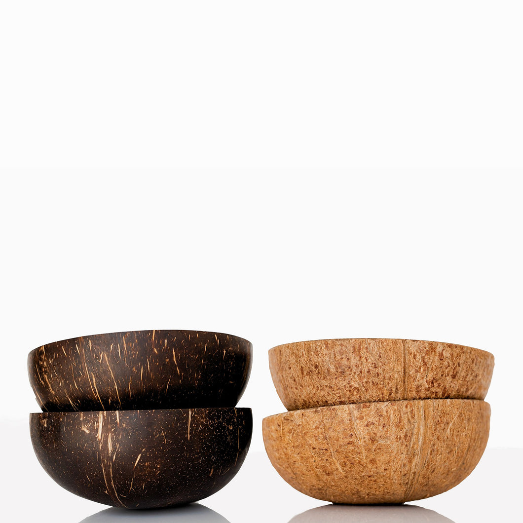 the palm lyfe l original and natural coconut bowls