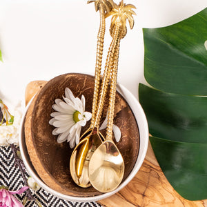 the palm lyfe l sustainable solid brass tropical spoon