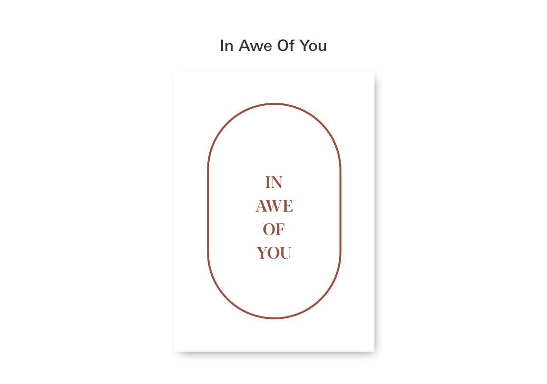Mothers Day Card: In Awe of You