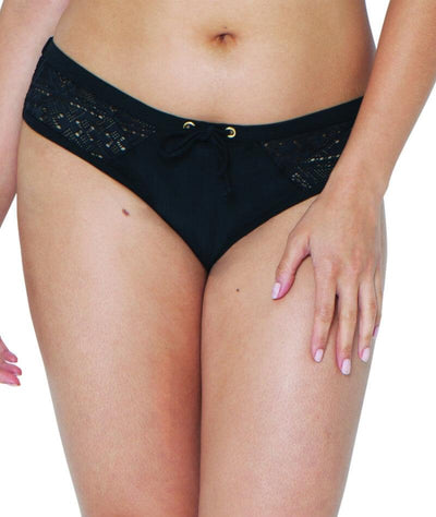 Curvy Kate Rush Mini Bikini Brief - Black - Front