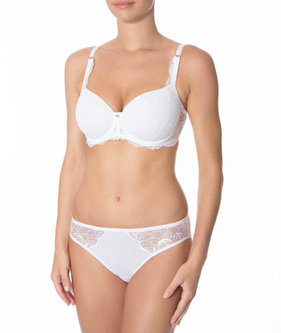 Florale Peony Tai Brief - White - Front - Model