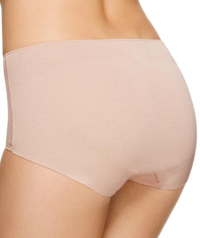 "Jockey No Panty Line Promise  Next Generation Cotton Full Brief - Silk Beige ""Back"""