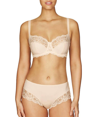 Fayreform Lace Perfect Midi Brief - Pink Champagne - Model - Front - 1