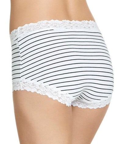 Jockey Parisienne Cotton Full Brief - Classic Bretton Stripe - Back
