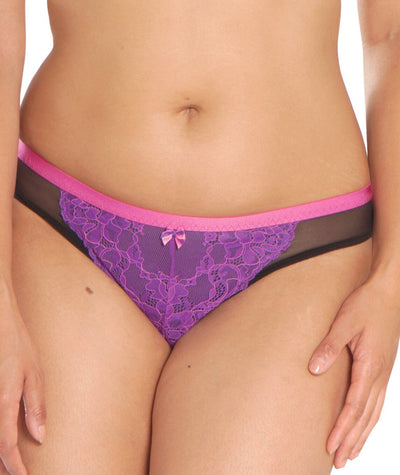 Curvy Kate Dragonfly Brazilian Brief - Black / Pink