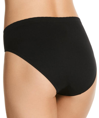 "Jockey Everyday Seamfree Hi Cut Brief - Black  ""Back"""