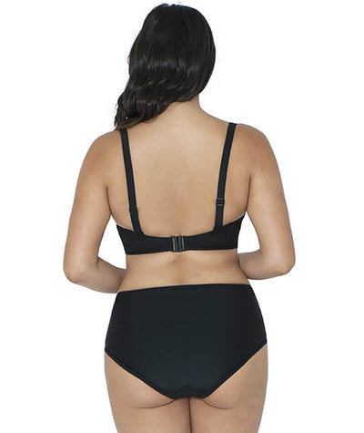 Curvy Kate Rush Bikini Short - Black - Model - Back