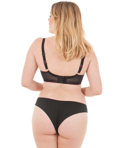 Curvy Kate Smoothie Soul Plunge Bra - Black - Model - Back