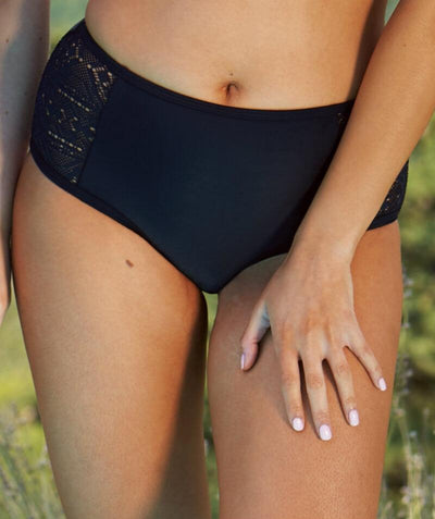 Curvy Kate Rush Bikini Short - Black - Front