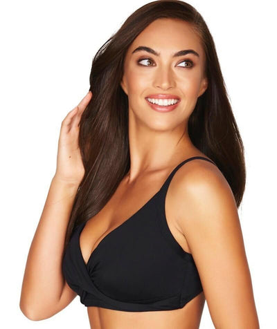Sea Level Essentials Twist Front DD-E Cup Bikini Top - Black - Side