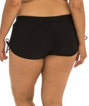Capriosca Plain Matt Adjustable Side Short - Black - Back
