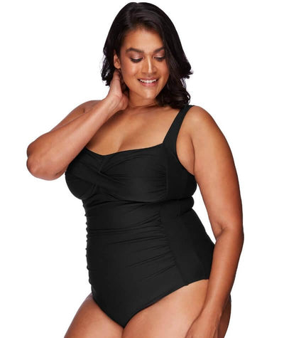 Artesands Botticelli Twist Front B-DD Cup One Piece Swimsuit - Black - Side