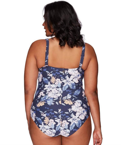 Artesands Botticelli Twist Front B-DD Cup One Piece Swimsuit - Blossom Assemblage - Back