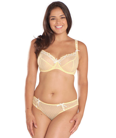 Curvy Kate Princess Balcony Bra - Lemon - Model - Front