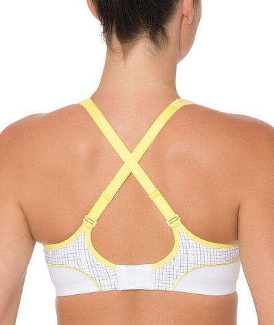 Triumph Triaction Performance Sports Bra - White - Light Combination - Crossover - Back