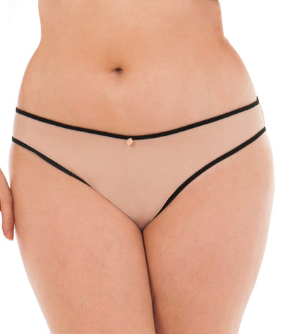 Scantilly Passion Bare Faced Brief - Latte