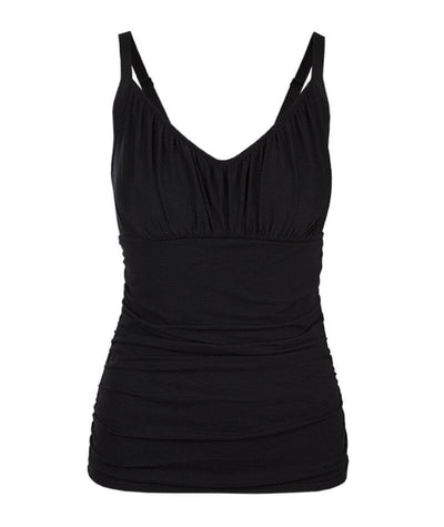 Capriosca Honey Comb Underwire Tankini Top Swimsuit - Black