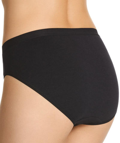"Jockey Everyday Bamboo Hi Cut Brief- Black ""Back"""