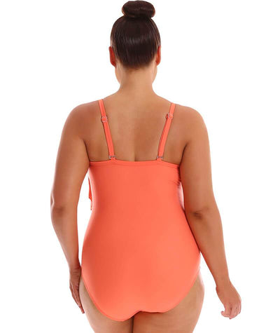 "Capriosca 3 Tier One Piece - Coral ""Back"""