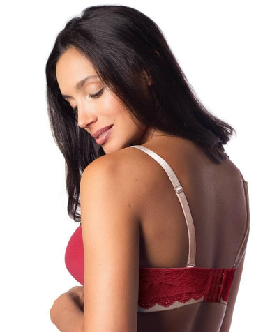 Hotmilk Forever Yours Lace Contour Maternity & Nursing Bra - Red - Back