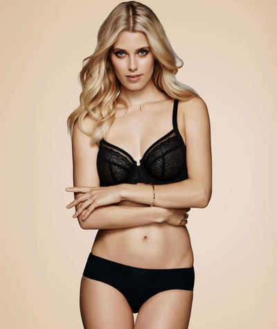 Triumph Sheer Balconette Bra - Black - Model