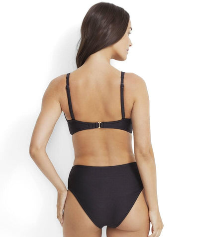 Mil̩a Mini Rib DD-E Plunge Tri Bikini Top - Nero - Model - Back