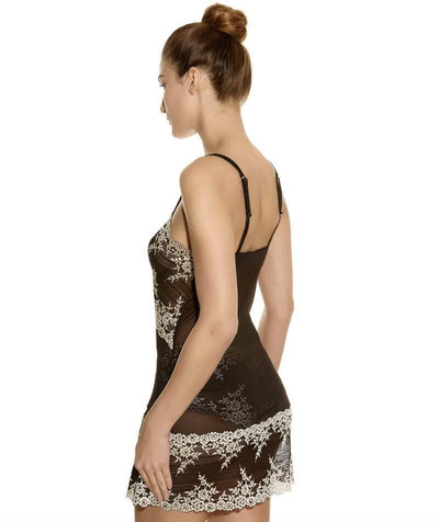 Wacoal Embrace Lace DD-E Cup Chemise Dress - Black - Side