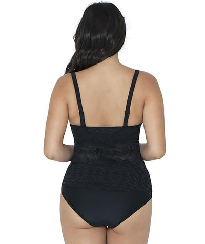 Curvy Kate Rush Padded Balcony Tankini - Black - Back