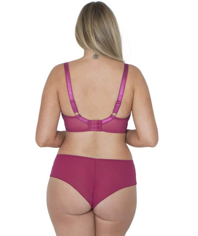 Curvy Kate Dottie Short - Sangria - Model - Back