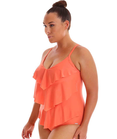 "Capriosca 3 Tier One Piece - Coral ""Side"""