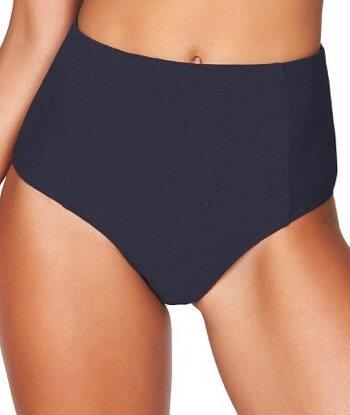 Sea Level Riviera Rib High Waist Brief - Night Sky Navy - Side